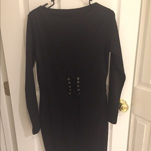 h&m Black corset long sleeve dress new with tags